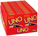 Mattel Games, uno card game display intl