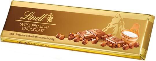 Lindt Tablet Gold, mælkechokolade med ristede hasselnødder 300g