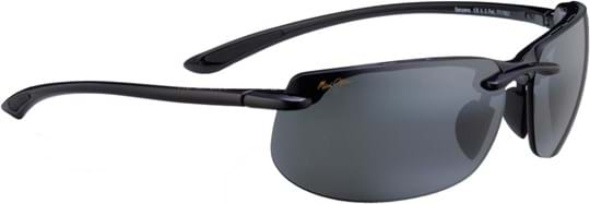 Maui Jim Banyans Unisex Sunglasses with a frame made of plastic in black and crystal lenses in grey