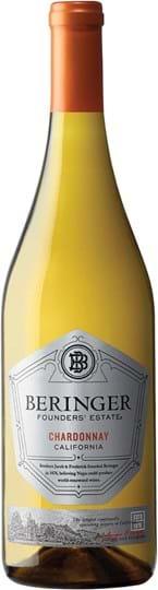 Beringer, Founders' Estate, Chardonnay, California, tør, hvid, 0,75L