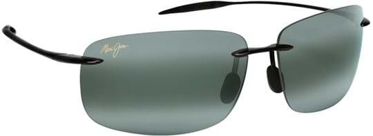 Maui Jim Breakwall Unisex Sunglasses with a frame made of plastic in black and plastic lenses in grey