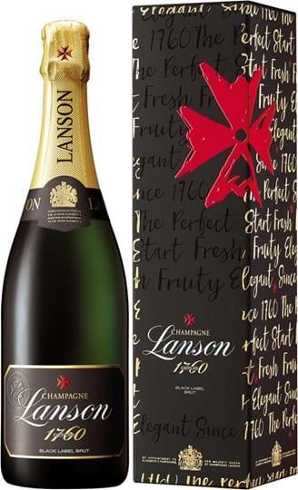 Lanson, Black Label, brut, hvid, gaveæske, 0,75L