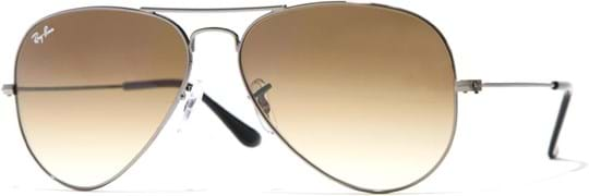 Ray Ban Icons Men's sunglasses with a frame made of metal in silver and lenses in brown gradient