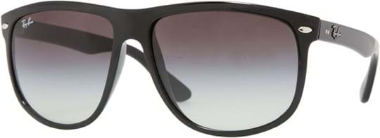 Ray Ban highstreet Men's sunglasses with a frame made of plastic in black and plastic lenses in grey gradient