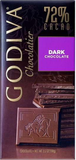 Godiva Tablet Dark Chocolate 72% 100g