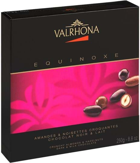 Valrhona Gift Box Equinoxe 250g Dark & Milk - Almonds & Hazelnuts