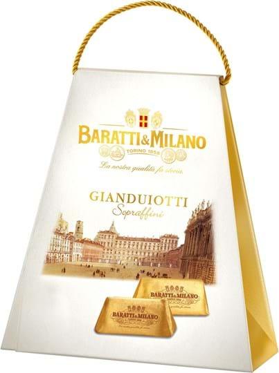 Baratti & Milano Gianduiotti, smuk æske med chokolade, 180g