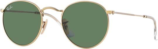 Ray Ban Icons Men's sunglasses with a frame made of metal in gold and lenses in green