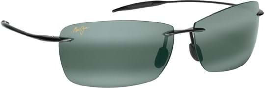 Maui Jim Lighthouse Unisex Sunglasses with a frame made of plastic in black and plastic lenses in grey
