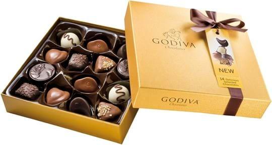 Godiva Gold, stiv æske 165g