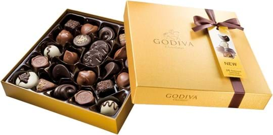 Godiva Gold Gold Rigid Box 24 pcs