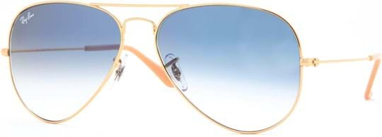 Ray Ban Icons Men's sunglasses with a frame made of metal in gold and lenses in blue gradient