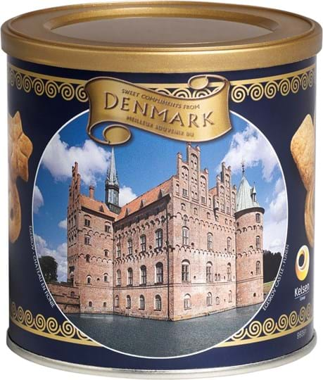 Kelsen Danish Butter Cookies in can with different designs 200g