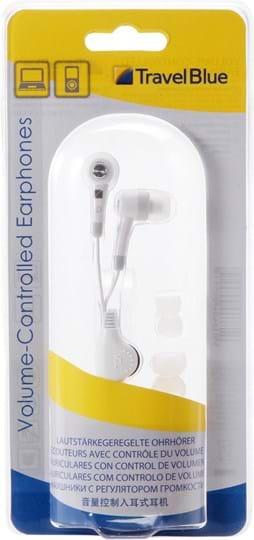 Travel Blue High quality earphones. Stereo with volume controller. Speaker diameter: 10mm. Speaker impedance: 16 ohm 15%. Speaker sensitivity: 1