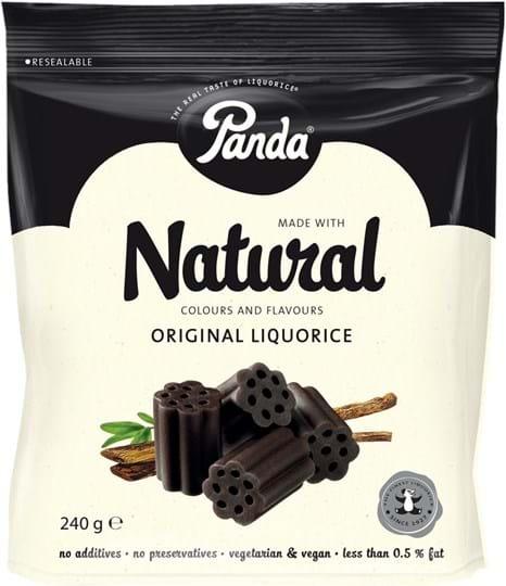 Panda All Natural, blød lakrids 240g