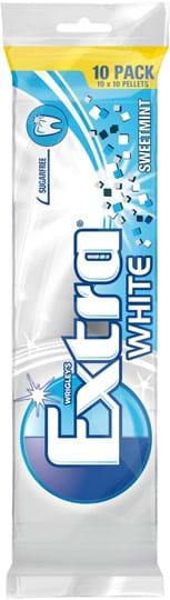 Wrigley's Extra White Sweetmint 10-pack