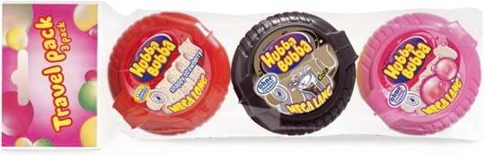 Hubba Bubba tape‑multipakning med tre smagsvarianter 168g