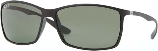 Ray Ban Tech Men's sunglasses with a frame made of plastic in black and plastic lenses in green polarized