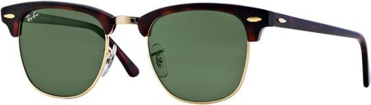 Ray Ban Icons men's Sunglasses with a frame made of acetate and crystal lenses in green