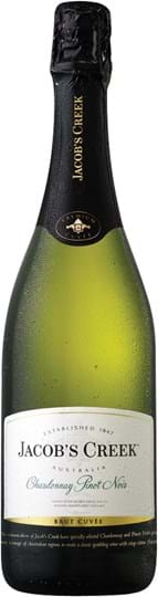 Jacob's Creek, Sparkling Wine, Chardonnay, dry, white