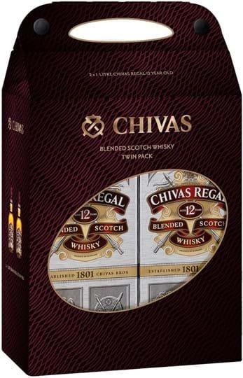 Chivas Regal 12y 40% 2 x 1L, dobbeltpakke
