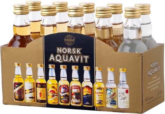 Norsk Aquavit table pack (10 x 0,05Ltr.)