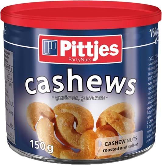 Pittjes Cashews, roasted/salted