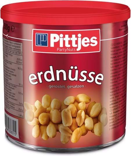 Pittjes Peanuts, roasted/salted