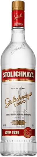 Stolichnaya Premium Vodka 40% 1L