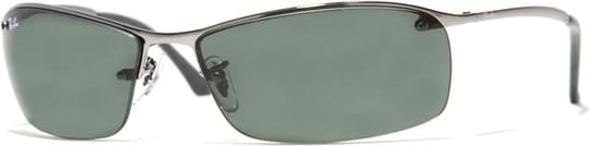 Ray Ban Active Men's sunglasses with a frame made of metal in silver and lenses in grey