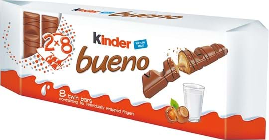 Kinder Bueno - Milk chocolate covered wafer with milk and hazelnut filling
