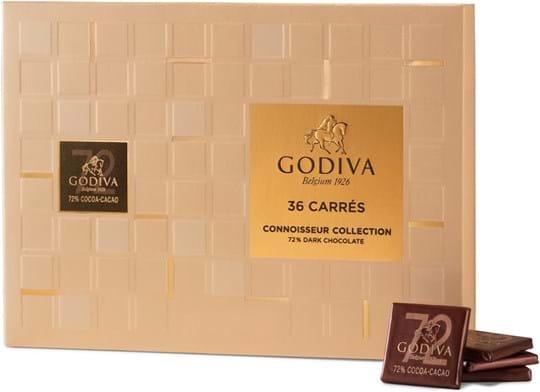 Godiva Carrés Dark 72 %