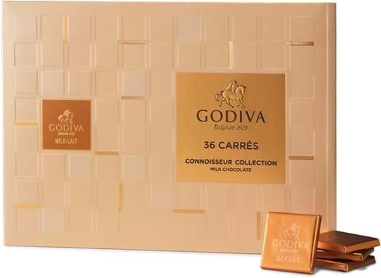 Godiva Carrés-mælkechokolade 36 stk. 190g
