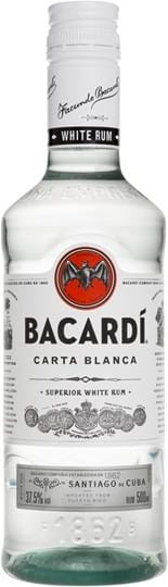 Bacardi Carta Blanca 37,5% 0.5L PET