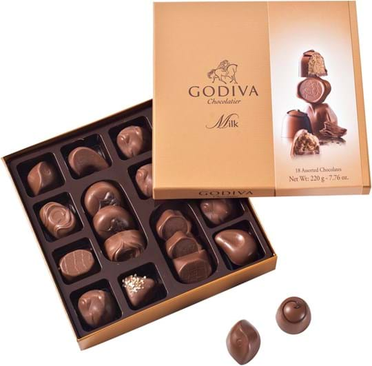 Godiva Pralines Godiva Connoisseur All Milk