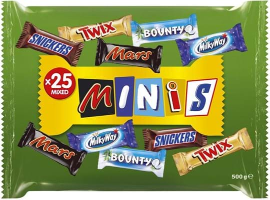 Mars Mixed Minis Funsize Bag 500g