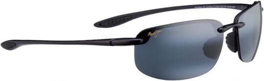Maui Jim Hookipa Unisex Sunglasses with a frame made of plastic in black and plastic lenses in grey