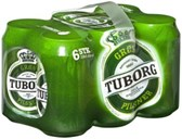 Tuborg Green Label 6x0.33 Tin Deposit